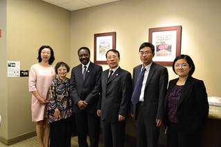 September 21 '17 XMU Vice President Wu Daguang Meeting with SDSU Senior Vice President Chukuka Enwemeka