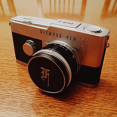 First adoption in quite a while (1964 Olympus Pen F half-frame SLR with F.Zuiko 38mm 1.8-16)