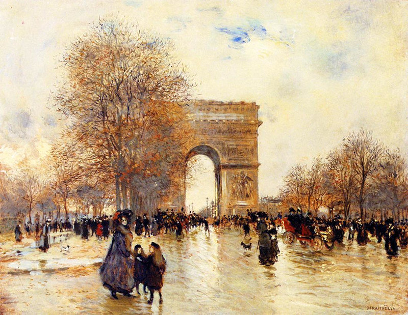 The Arc de Triomphe, Autumn Effect by Jean-François Raffaëlli, 1907