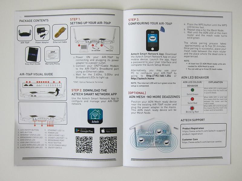 Aztech AIR-706P - Instructions