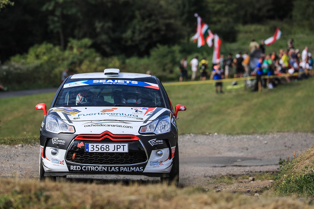 48 FALCON Emma (ESP) PENATE Rogelio (ESP) Citroen DS3 R3T action during the 2017 European Rally Championship ERC Barum rally,  from August 25 to 27, at Zlin, Czech Republic - Photo Jorge Cunha / DPPI