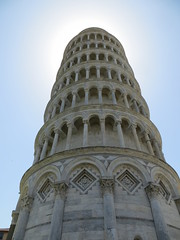 Leaning Tower of Pisa (to the left)