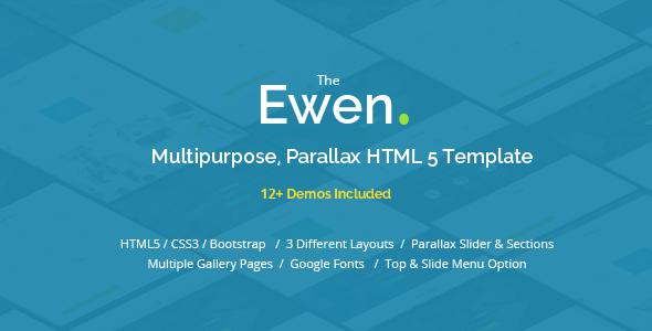 Ewen v1.1 – Multipurpose HTML5 Parallax Template