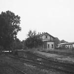 Trittau Verladerampe mit Kleinbahnhof im Hintergrund 1969