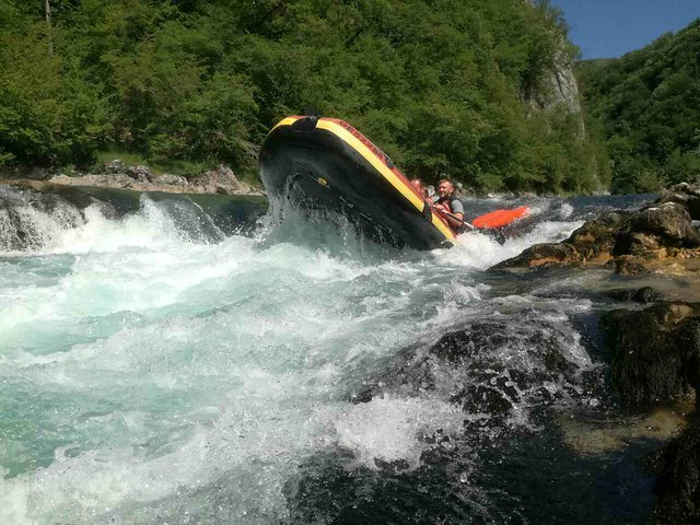 Strong rapids on the Neretva river