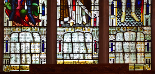 war memorial window: the names (Lavers & Westlake, 1920)