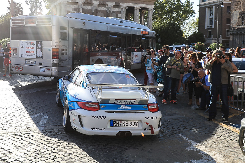 19 DUMAS Romain (FRA) GIRAUDET Denis (FRA) Porsche 997 GT3 start during the 2017 European Rally Championship ERC Rally di Roma Capitale,  from september 15 to 17 , at Fiuggi, Italia - Photo Jorge Cunha / DPPI