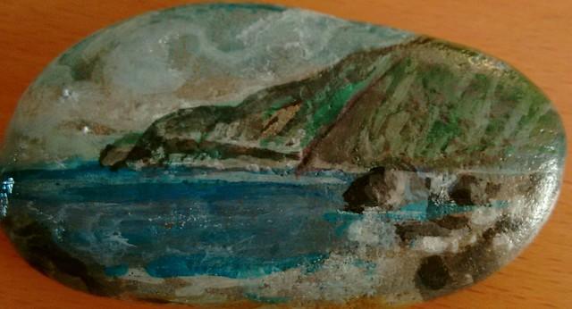 Ionio 12-Υδατογράφημα σε πέτρα-Αγιος Νικήτας 2017