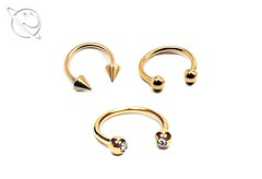 Gold Plated Horseshoe Barbell