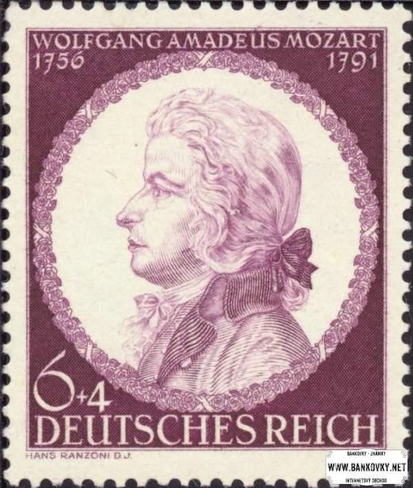 Známka Nemecká ríša 1942 W. A. Mozart, nerazítkovaná NH