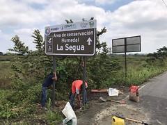 Colocaron señalizaciones en el Humedal La Segua