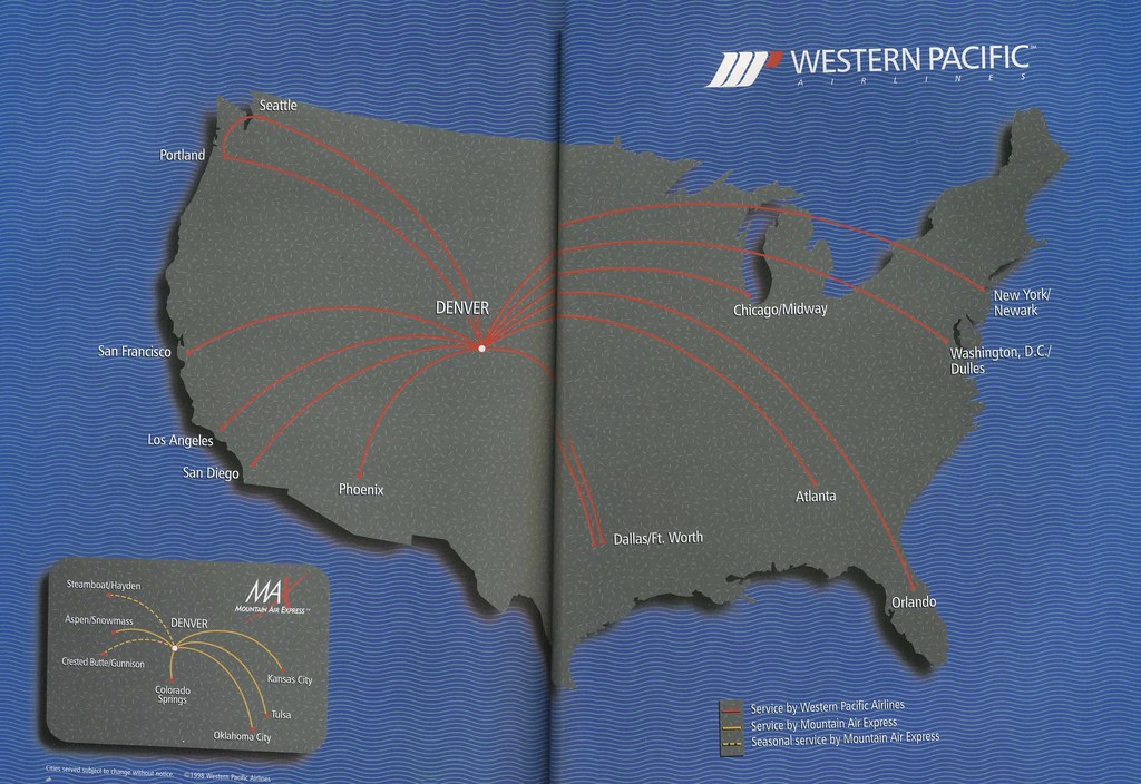 Airline Maps - West pacific islands map 1998