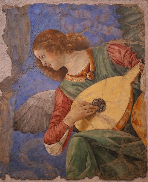 Melozzo da Forlì (Melozzo degli Ambrosi 1438-1494) - Angeli musicanti, cherubini e teste di apostoli (1480 circa) - Pinacoteca vaticana - Musei Vaticani Roma
