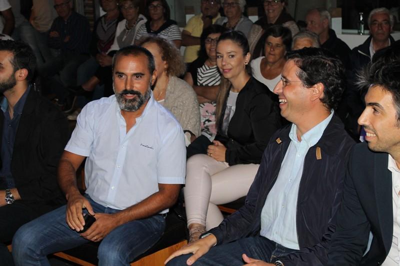 Cristianao Silva num momento de boa disposição com Nuno Sá
