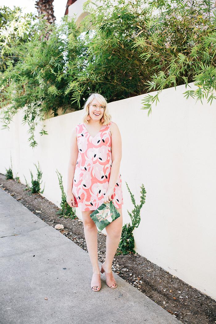 austin style blogger writes like a girl flamingo dress12