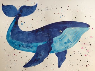 32 - Watercolour Whale