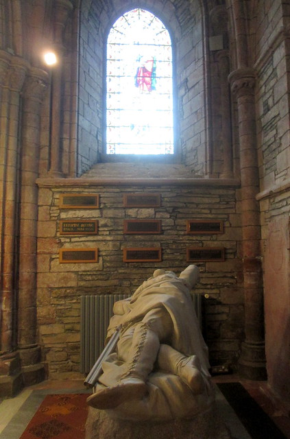 John Rae Memorial and Poet's Corner, St Magnus Cathedral, Orkney