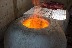Tandoor being heated up
