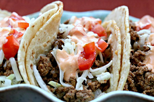 Sriracha Beef Tacos Front