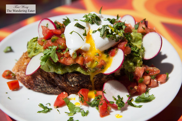 Avocado toast with poached egg