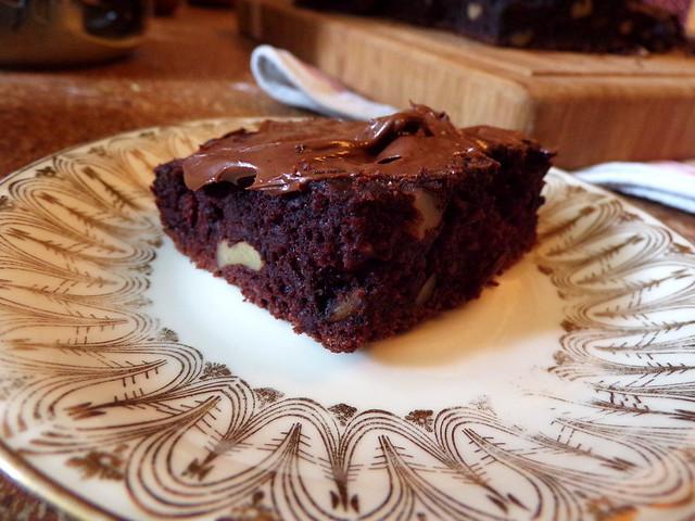 Recipe: Chocolate Zucchini Walnut Cake | Hedgefairy