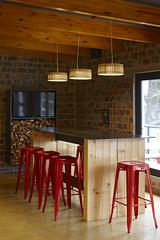 1. Bar counter and stools, Healey's Cheese Deli, interior by Haldane Martin, Photo Micky Hoyle