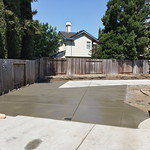 Large Backyard Concrete Area In Vacaville