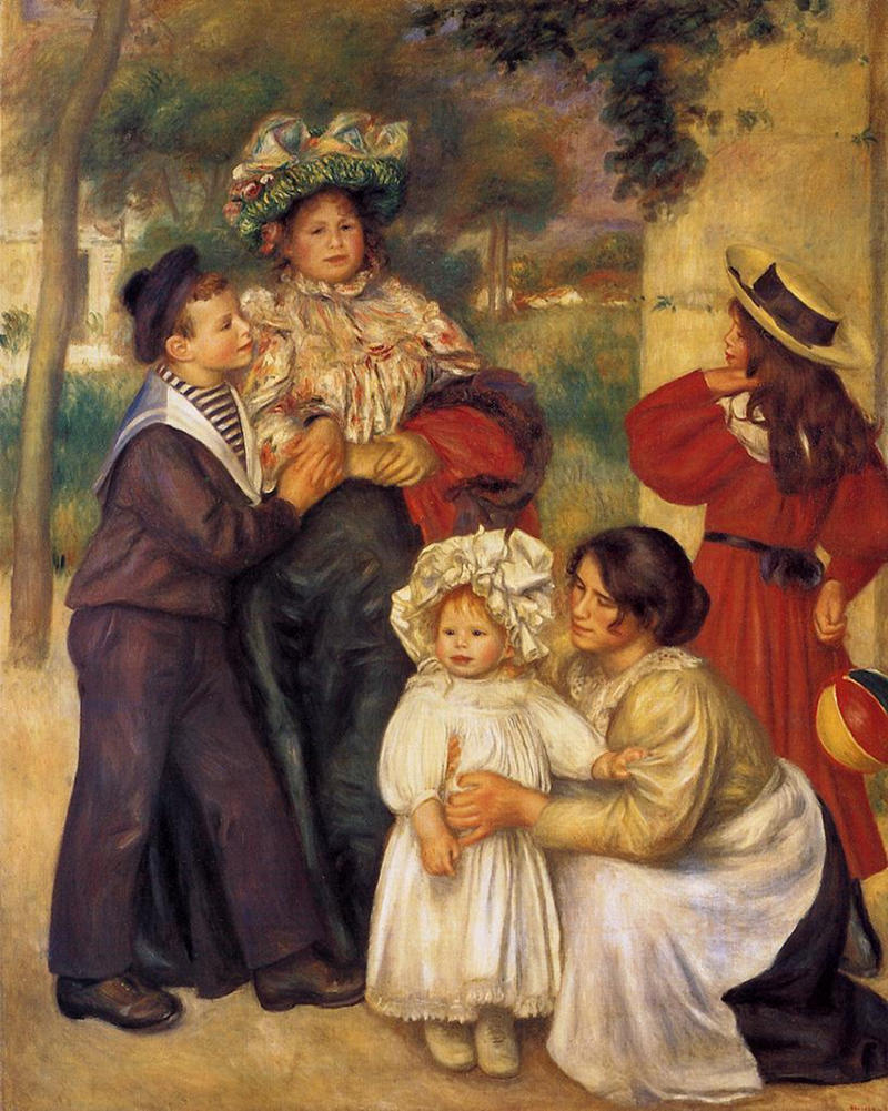 The Artist's Family by Pierre-Auguste Renoir, 1896