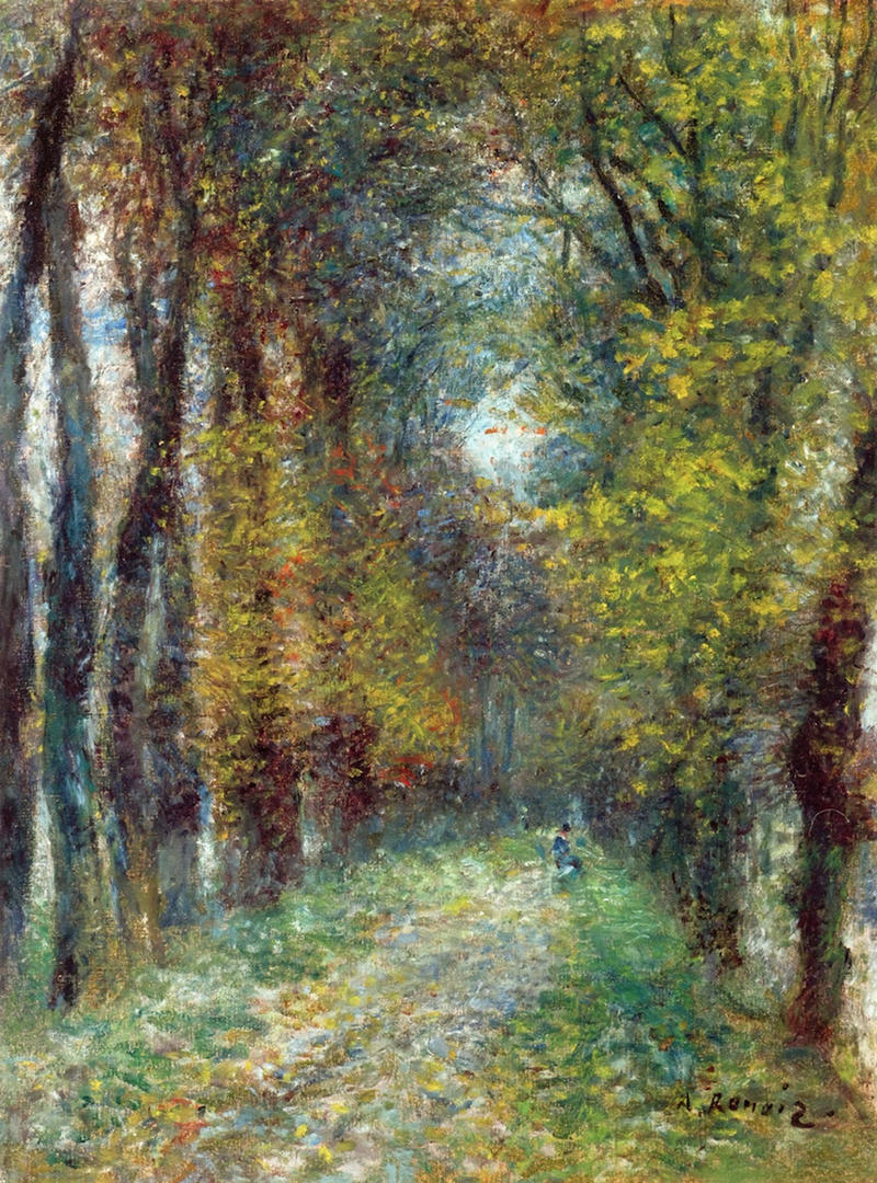 The Covered Lane by Pierre Auguste Renoir, 1872