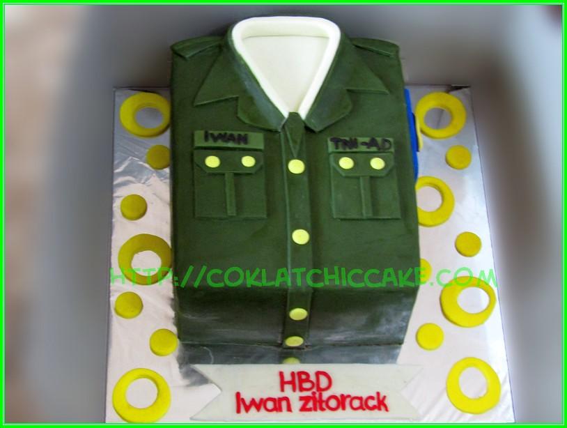Cake baju tentara