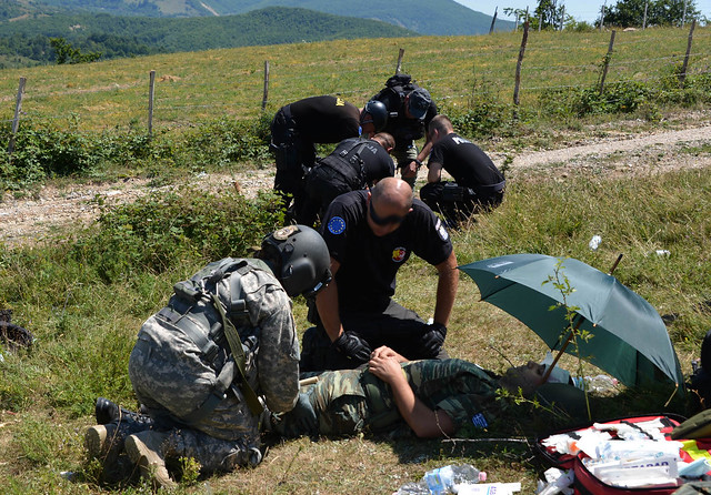KFOR and EULEX conduct a Joint Medical Evacuation Exercise