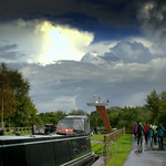 Stormy clouds by the canal at Preston