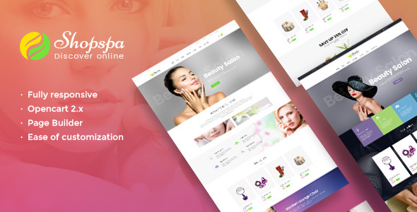 Pav Shopspa v1.0 – Responsive Opencart theme for Spa & Beauty Salon