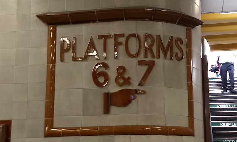 Cardiff station sign