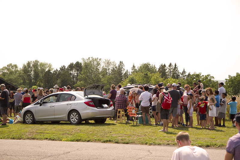 solar eclipse - at Armour Hill small crowd