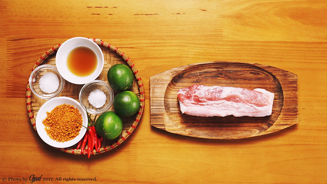 Sour and Spicy Shaken Pork Belly with Lime