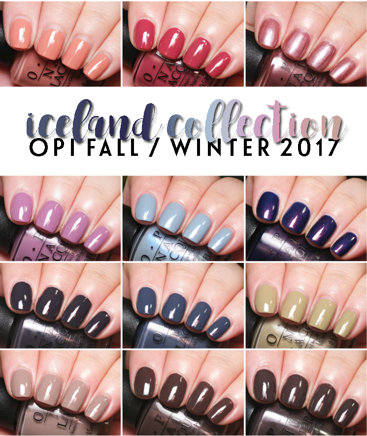 OPI Iceland Collection Fall Winter 2017 (2)