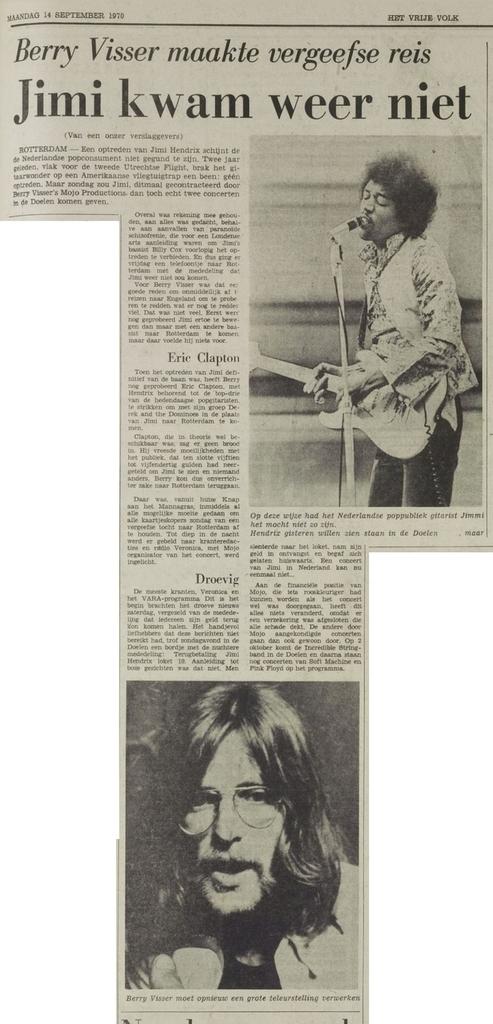 HET VRIJE VOLK (NETHERLANDS) SEPTEMBER 14, 1970