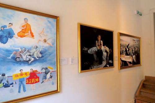 Falun gong-utställning