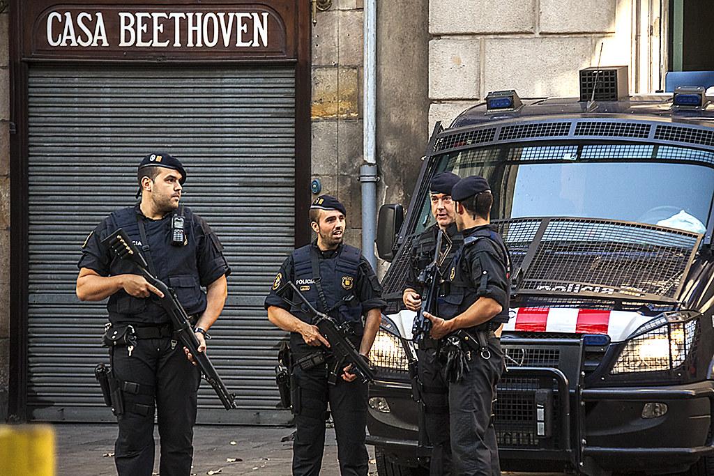 Cops on La Rambla--Barcelona