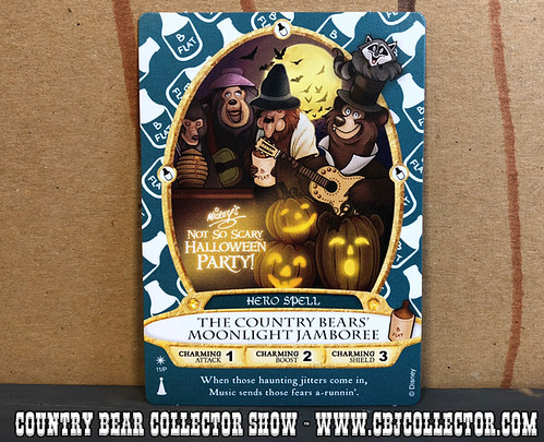 2017 Walt Disney World Sorcerers of the Magic Kingdom Country Bear Card - Country Bear Collector Show #119