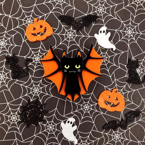 Erstwilder Bat Cat Brooch