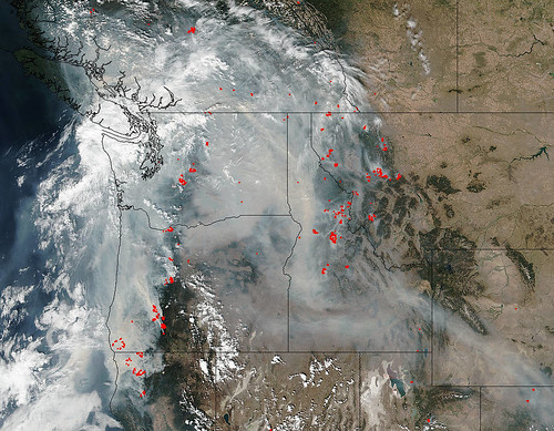 Smoke Obscures Much of the Pacific Northwest
