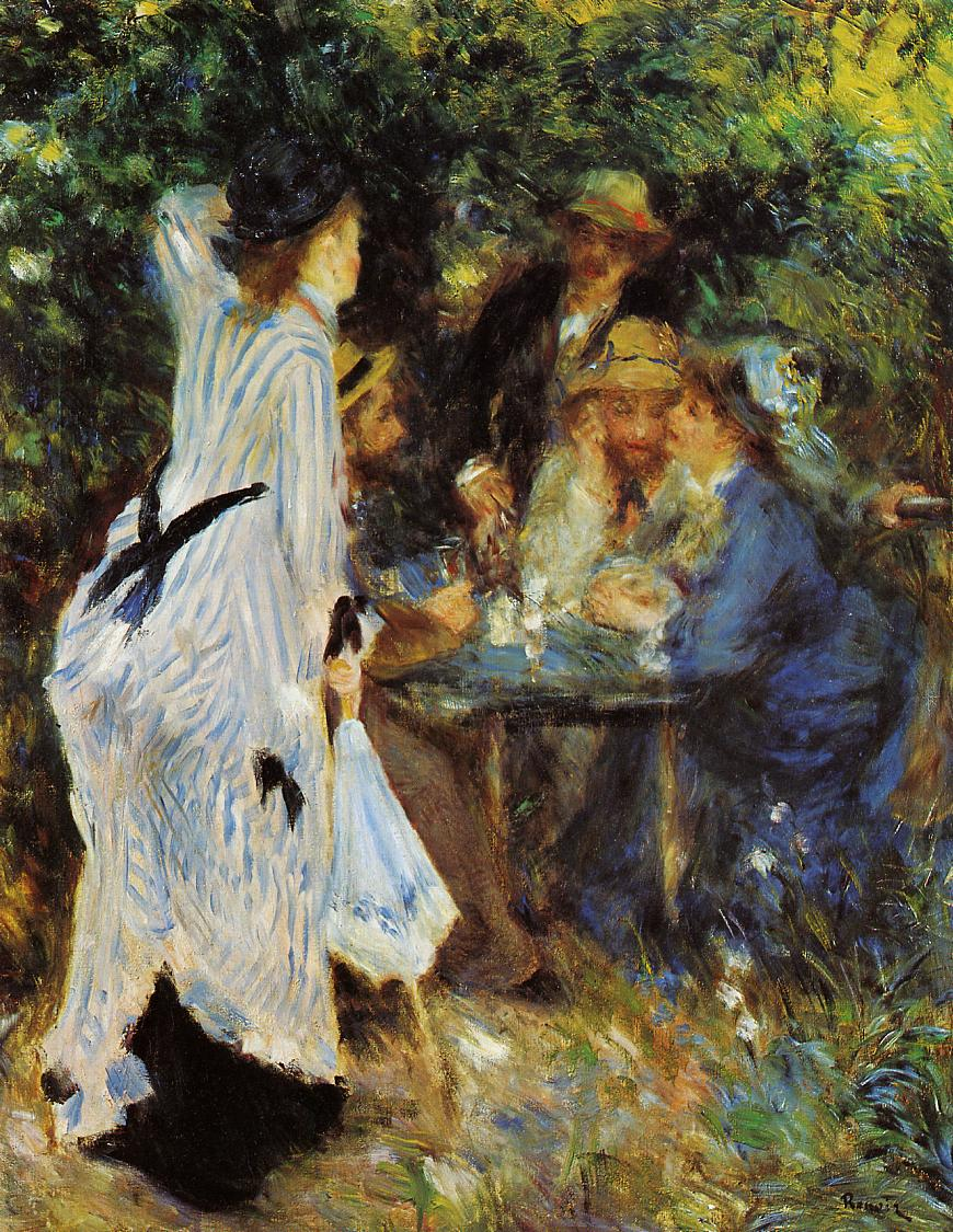 Under the Arbor at the Moulin de la Galette by Pierre Auguste Renoir, 1876