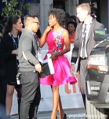 Karimah Westbrook Wearing Beautiful Colourful Dress - TIFF17