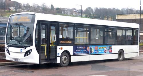 YX09 HZJ 'Hulleys of Baslow 'Alexander Dennis Ltd. Enviro 200 / Alexander Dennis Ltd. Enviro 200 on 'Dennis Basford's railsroadsrunways.blogspot.co.uk'