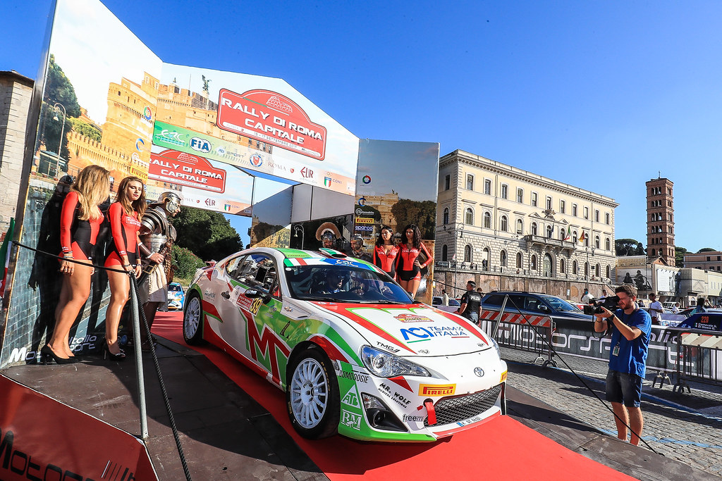 39 PISANI Gianandrea (ITA) MIGLIORATI Alessio (ITA) Toyota GT86 R3 start during the 2017 European Rally Championship ERC Rally di Roma Capitale,  from september 15 to 17 , at Fiuggi, Italia - Photo Jorge Cunha / DPPI