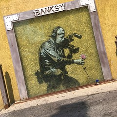 @TheRingOfDOOM Meets Another Banksy Creation In Park City, Utah