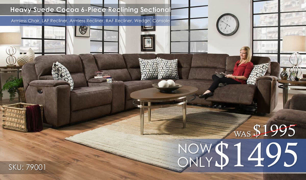 Heavy Suede Cocoa 6PC Reclining Sectional 79001__92155.1504115096.1280