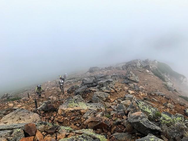 乗鞍岳 富士見岳 登山道